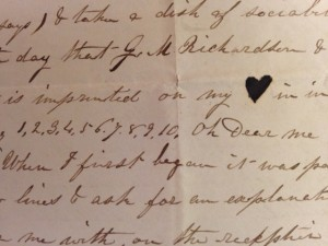 Portion of Sarah F. Sampson Letter