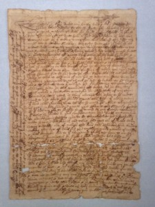Letter to Experience Mitchell in Duxbury from his nephew, Thomas Mitchell in Amsterdam, 1662