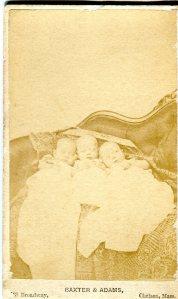 Delano Triplets, 1868 Photographer: Baxter & Adams, Chelsea, MA