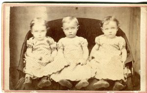 Delano Triplets, c. 1870 Photographer: M. Chandler [Marshfield, MA]