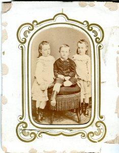 Delano Triplets, c. 1874 Photographer: Unknown