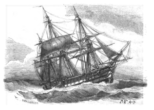 ship in a storm
