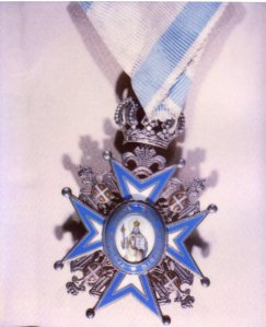 Medal awarded to Annie Laurie Williams by King Peter of Serbia.