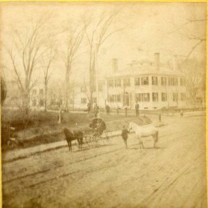 Washington Street, Duxbury with Seth Sprague, Jr. House, c. 1870.