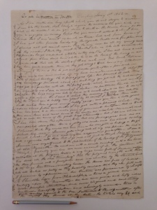 Letter by William P. Webster  Jan. 1, 1842 Gift of John and Polly Nash