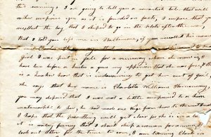 Except of letter written by Capt. Jonathan Smith to Zilpah Smith, July 29, 1816. DAL.MSS.021
