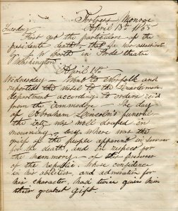 Journal of Laurence Bradford, Bradford Family Collection