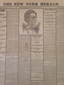 New York Herald, April 15, 1865. Bradford Family Collection.